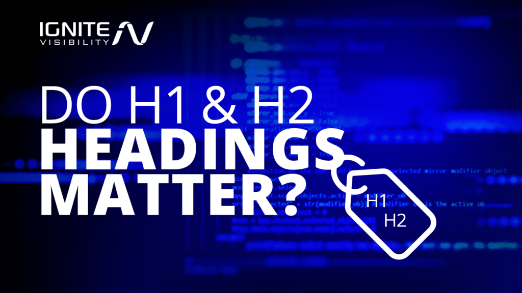 H1 and H2 Headings