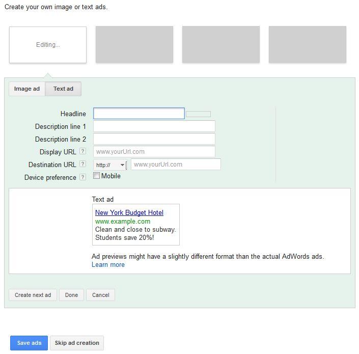 Create the Google Ads