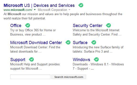 microsoft search option