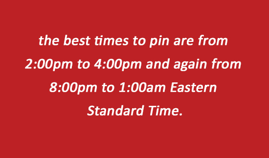 Best times to pin on Pinterest