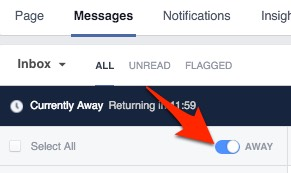 Facebook Hacks and Tips to Grow Your Community - Away button