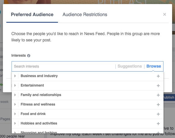 Facebook Hacks and Tips to Grow Your Community - Post targeting