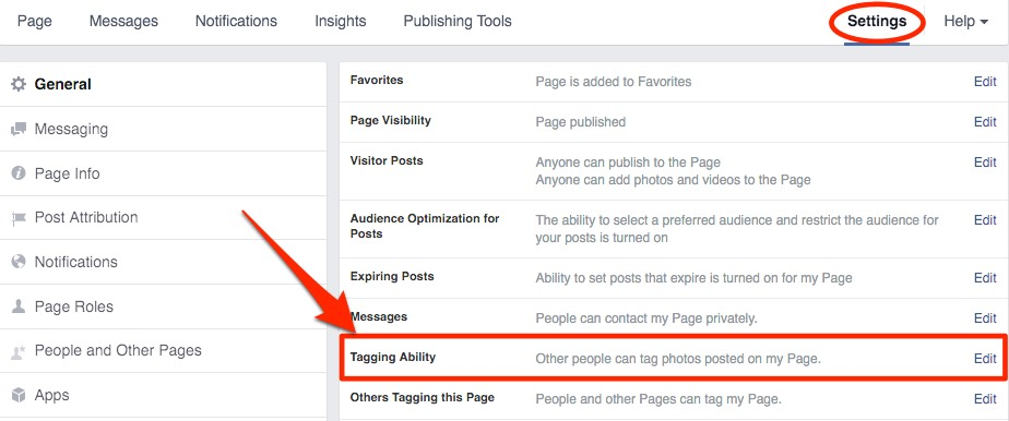 Facebook Hacks and Tips to Grow Your Community - Enable tagging