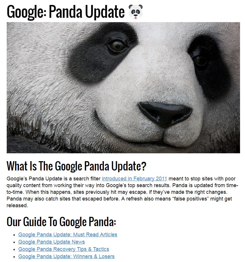 SEL Panda Update