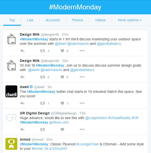 Promoting a Twitter Chat using #modernmonday