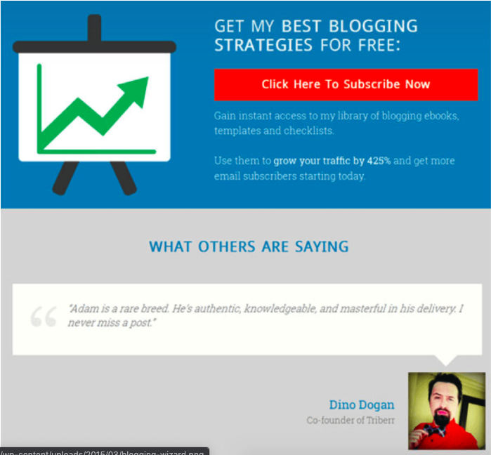 Create a landing page to help collect emails from your website