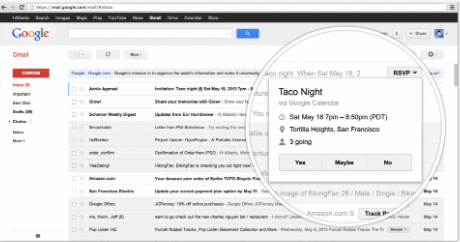 Gmail email markup language actions