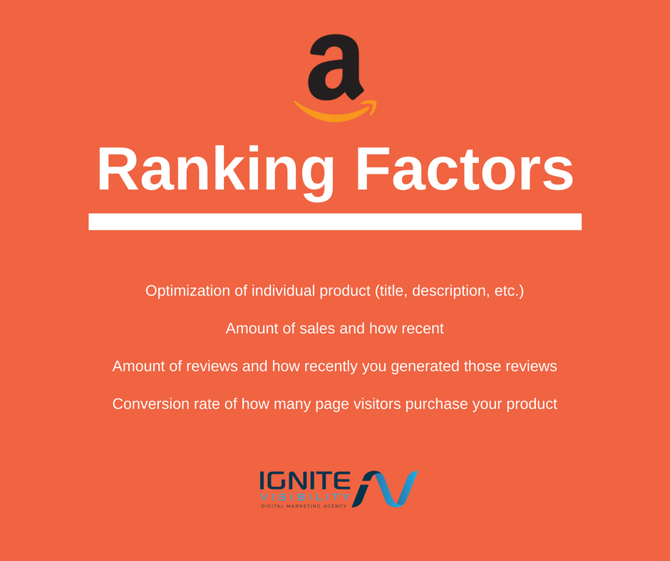 amazon ranking factors