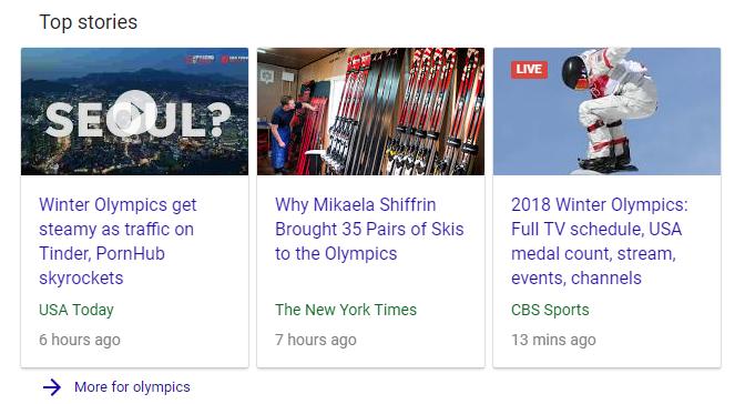 top stories serp