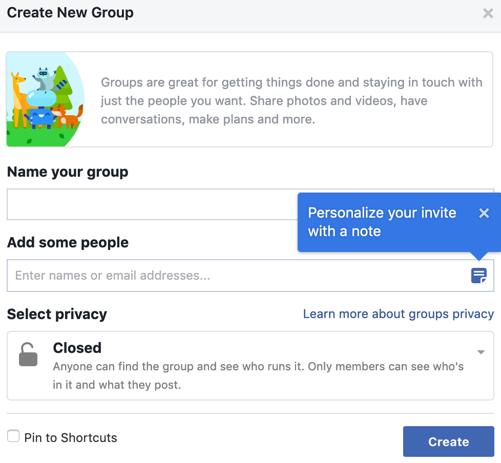 Facebook Group Manager: Setting up a Group