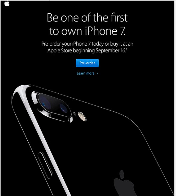 Apple's new product launch email