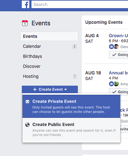 Real estate marketing ideas: create a Facebook Event for your open house
