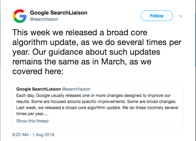 Google confirms its August 1st Medic update