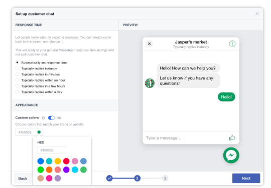 Customize your customer chat plugin