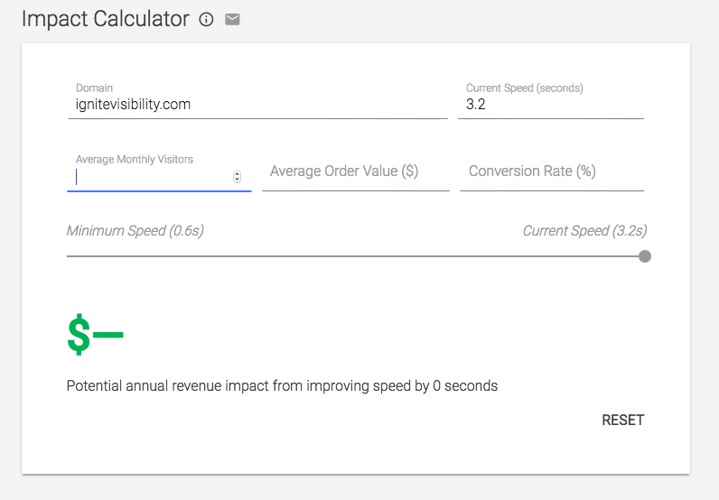 Use Google's Impact Calculator to determine how your page load speed is effecting your revenue