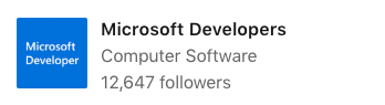 One of Microsoft's LinkedIn Showcase Pages