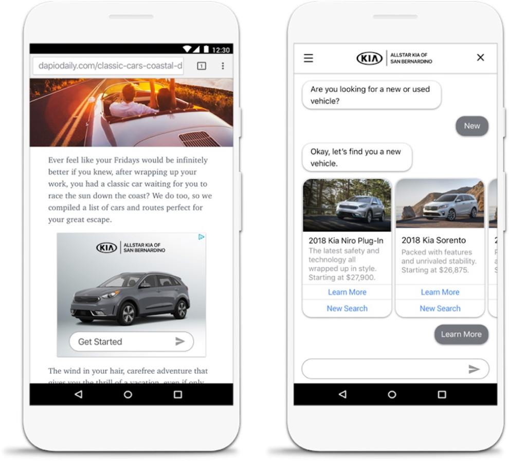 Kia is experimenting with Google AdLingo