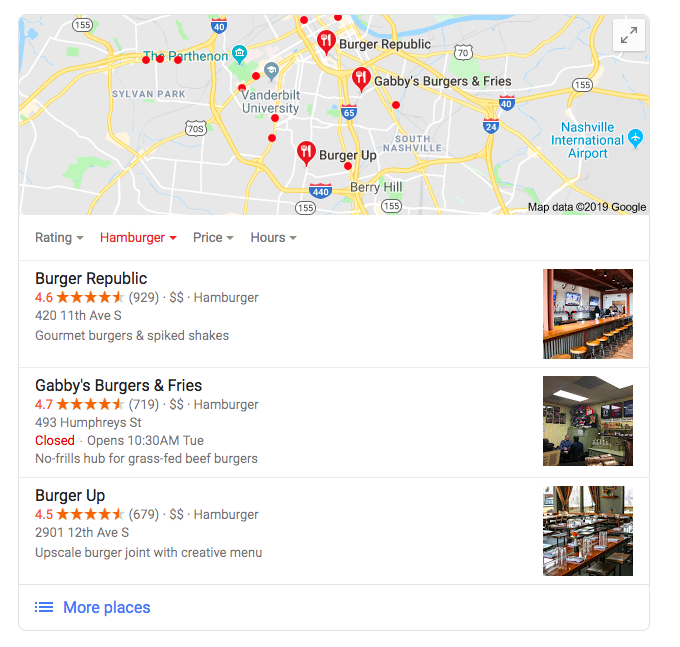 Google Maps Marketing: If not pulled by proximity, results are based on rank