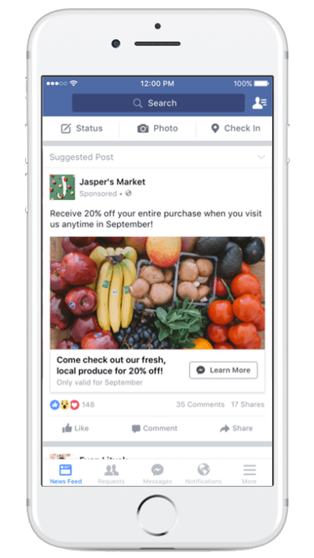 Facebook ad types: Click to messenger