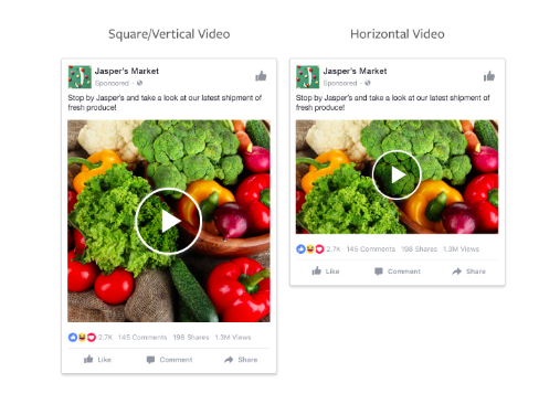 Facebook ad types: video ads