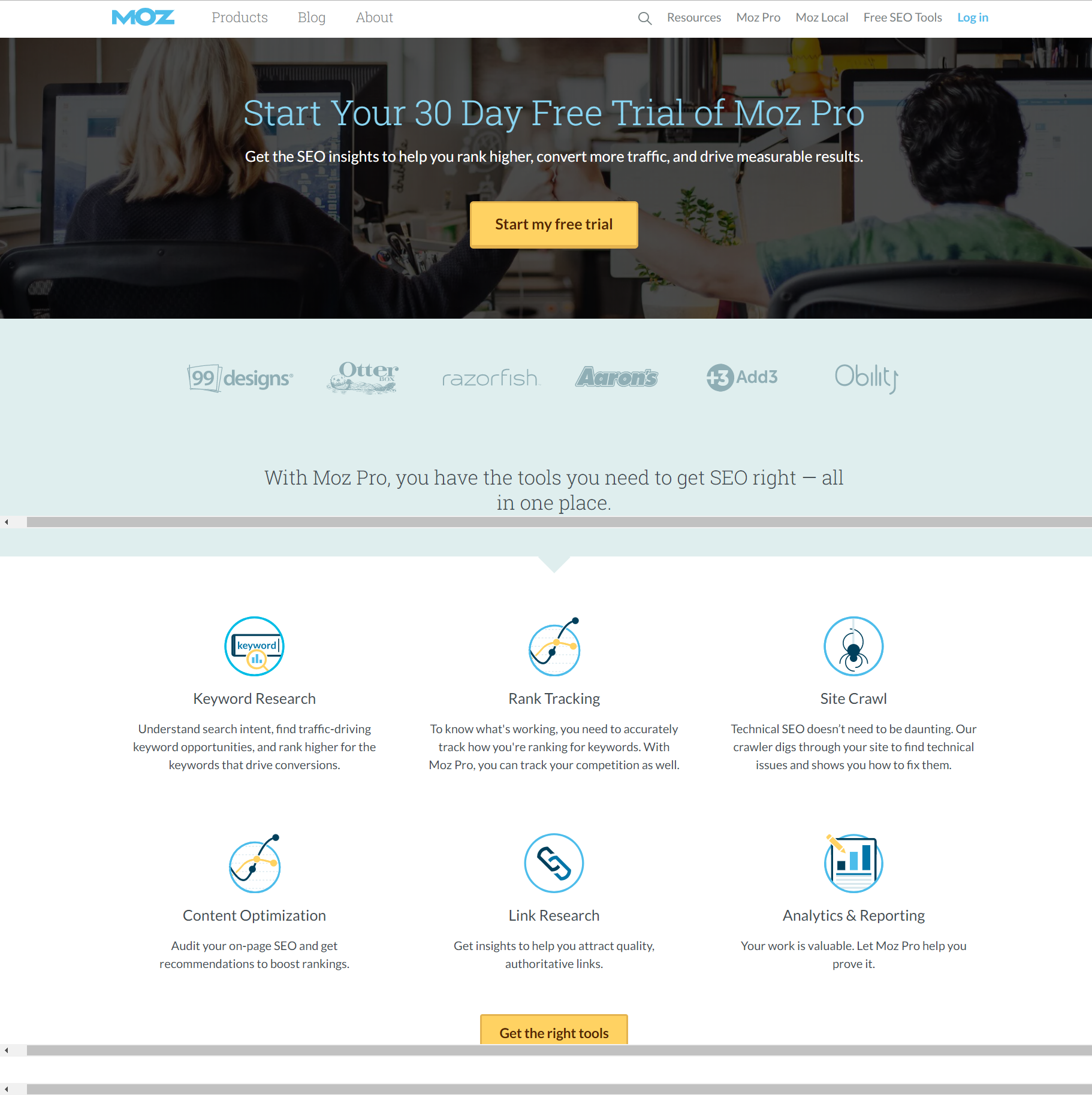 A high converting landing page conveys a lot of information in a simple, concise way