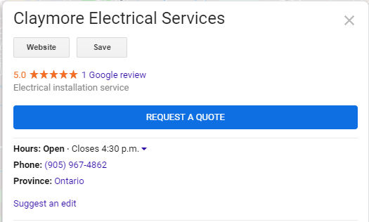 "Google update: new ""request a quote"" feature for Google My Business"