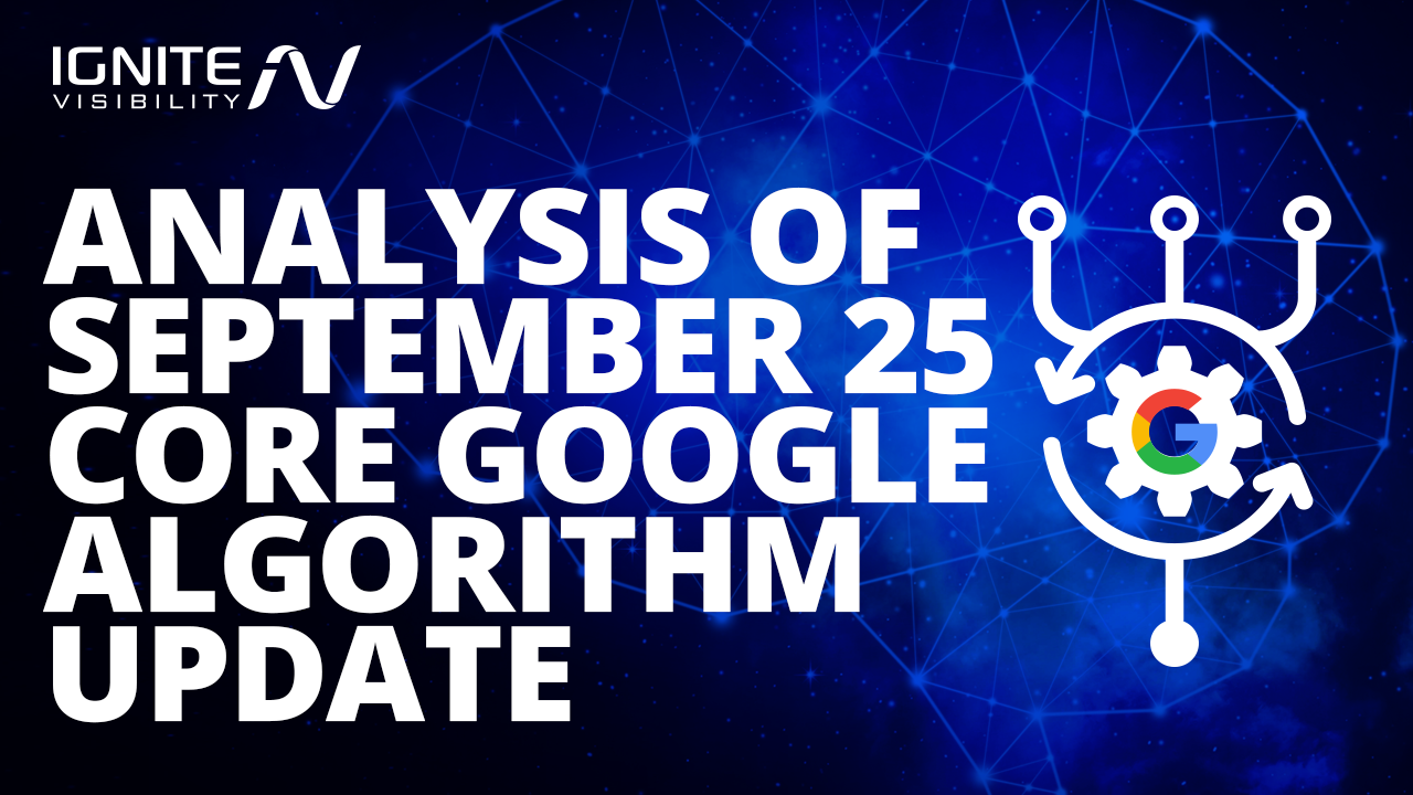 Google September 19 Core Update