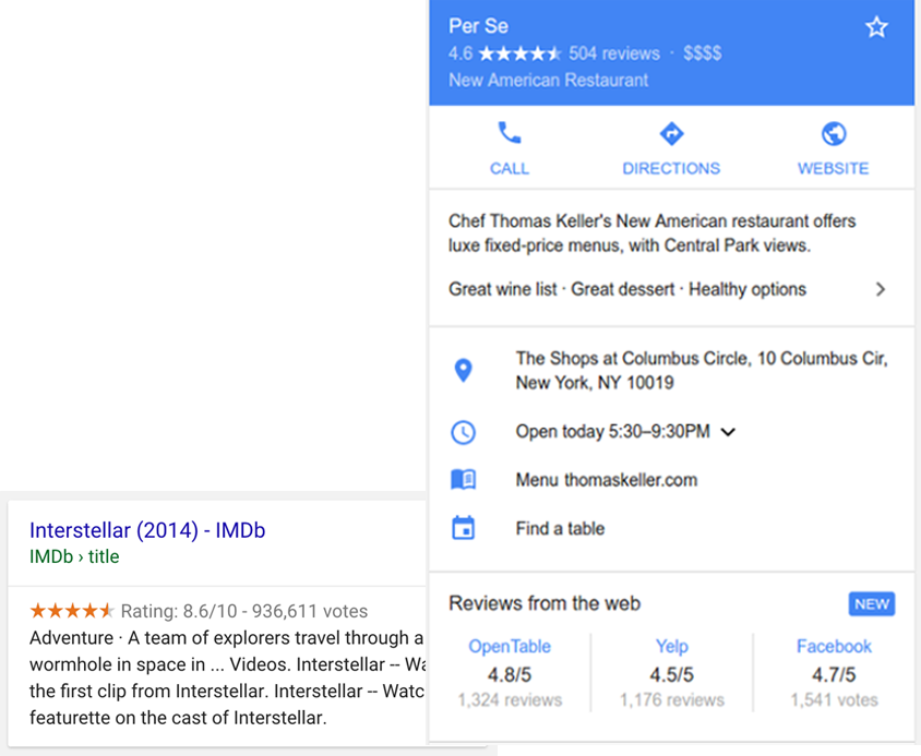 Use schema to claim a Review SERP Feature