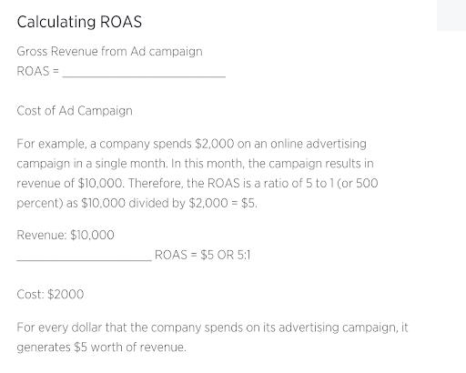 How to calculate ROAS