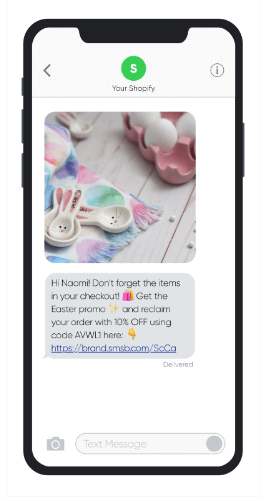 Send personalized offers through text messages