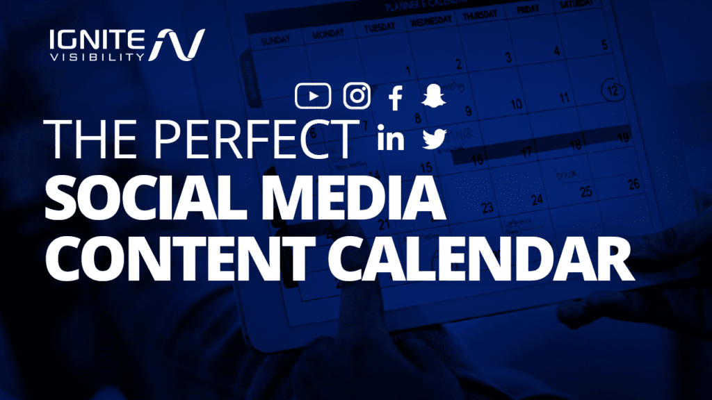 How to create the perfect social media content calendar