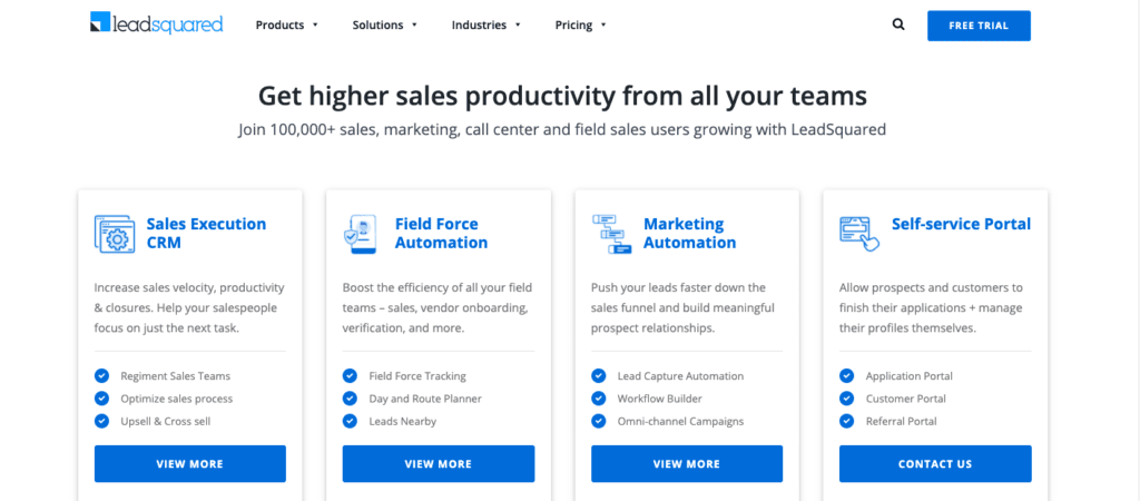LeadSquared email automation software