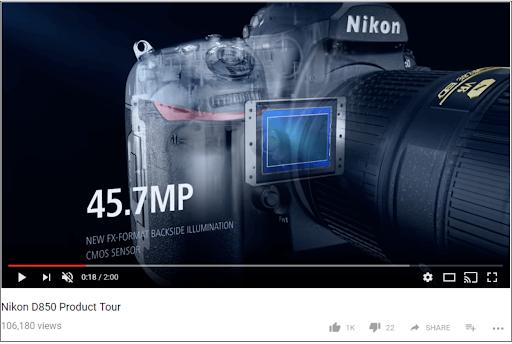 Nikon landing page