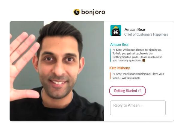 Bonjoro features screenshot