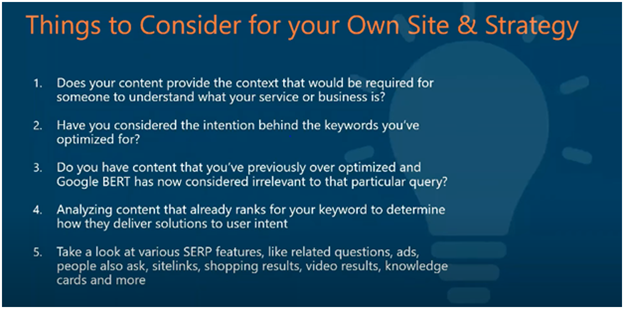 Things to Consider for Your Own Site & Strategy