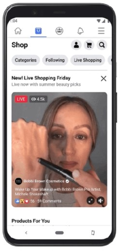 """Example of """"Live Shopping Fridays"""" with Bobbi Brown Cosmetics"""