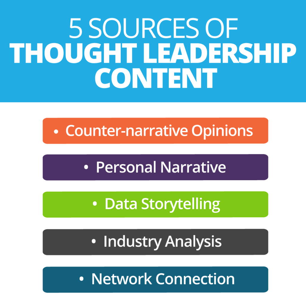 5 Sources of Thought Leadership