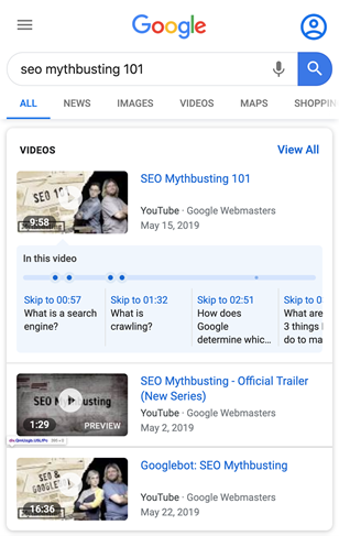 Google Search Central: Example of Clip Markup